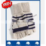 wholesale china hand gloves manufacture supplier stripes women winter gloves