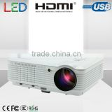 4500 Lumens led video projector connect DVD,mobile phone