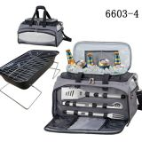 Stainless steel BBQ tool set with cooler bag