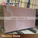 Transparent pink onyx marble slab
