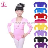 Colorful Ballet Leotards Coat High Waist Dance Wear Girls Long Sleeve Gymnastics Leotards Overalls