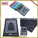Muslim Prayer Rug with Compass Pocket Size Portable Mat, Black