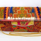 Vintage Afghani Tribal Clutch - Boho Traditional Gypsy Clutch Purse- Indian Unique Banjara Coin Clutch