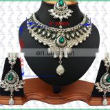 NEW INDIAN DESIGNER WHOLESALE ARTIFICIAL PARTWEAR KUNDAN JEWELLERY/JEWELRY NECKLACE EARRINGS SET