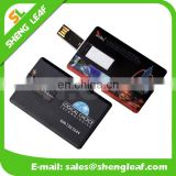 Hot sale custom logo plastic credit card usb
