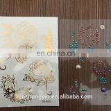 NEW golden and fashionable rhinestone tattoo sticker,