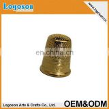 2015 tourism market latest top quality custom design metal gift brass thimble
