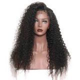 Curly Human Multi Colored Hair Wigs Blonde Brown