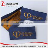 gold thread woven fabric label for clothing