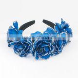 RETAIL BLUE Silk satin headband for women Ribbon Bowknot Headwear, Bow Headbands,Hair Accessories