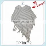Hot sale new stylish poncho sweater wholesale cashmere poncho,ladies knit poncho sweater