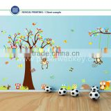 Tree Flowers Owl Wall Decals Kids Bedroom & Baby Nursery Stickers Art Room Decor