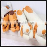 plush animal shaped bed cushion and pillow with dog shaped
