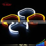 B-deals Dual colors white & yellow turning signal crystal led angel eyes for bmw f30 headlight