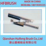 Wooden handle brush with metal wire