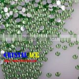 China Non hot fix flat back resin stones, peridot no hot-fix beads , faceted resin crystal for wholesale