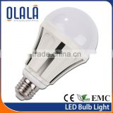 aluminum + plastic bulb, A60 E27 led bulbs , 230 beam angle aluminum bulb incandescent light bulb