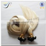 Wholesale top quality italian keratin pre bonded hair extensions russian virgin hair                                                                                                         Supplier's Choice