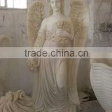 Natural hand carving large angel stone sculpture