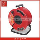 Germany type steel 4 sockets extension spring cable reel 25m 40m 50m