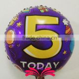 18 inch NO 5 foil balloon