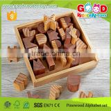 2015 New Arrival Building and Stacking Blocks Set Multi-functional Wood Alphabet Blocks for Education                                                                         Quality Choice