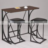Design WoodBlack Coating Bar Set Stool
