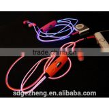 Wholesale el wire earphones with flowing light led novel headphones mobile accessory with CE compliance                                                                         Quality Choice