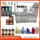 Easy operation auto glass eliquid bottle filler price,e liquid filling production line