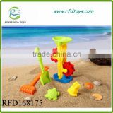 Summer beach bucket set plastic sand beach hourglass for kids toy hourglass