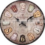 Roman style large size decorative wooden wall clock                                                                         Quality Choice