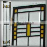 MX200003 china wholesale customized interior stained glass sliding door insert for home decoration piece