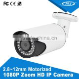 p2p ip cloud bullet digital network motorized zoom 2.8-12mm outdoor camera ip hd night vision