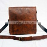 Real Goat Leather Handmade Messenger Shoulder Bag Cross Body Ladies Bag Purse Satchel Sling Handmade Bag