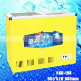 SCD-198 cooler and fridge open top refrigerator,open showcase Commercial ice cream lpg gas freezer