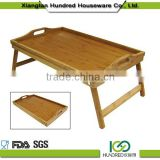 Hot sale Safe Cooking Tools Bamboo bed serving food Trays