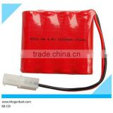 NiCD rechargeable battery pack High performance NiMH 4.8 Volt 1000 mAh NiCd battery pack rechargeable 4.8volt Ni-CD