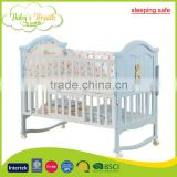 WBC-20A sleeping safe softtextile carved teak wood baby swing cradle bed rail, bed extender for baby