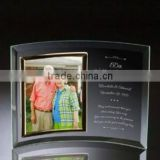 High Quality Personalized Curved Crystal Glass Picture Frame/Photo Frame For Parents Wedding Aniversary Souvenir Gifts