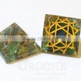 Orgonite Engraved Heart Chakra Pyramid | Manufacturer-Supplier-Wholesaler-Orgonite Chakra Pyramid