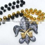 Wholesale Mardi Gras Beads Necklace Poly Medallion Beads