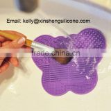 Silicone cosmetic brush cleaning mat, makeup brush cleaning tool, makeup brush cleaning holder