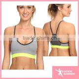 Custom contrast color Ladies sports bra wholesale yoga bra