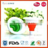100% Food Grade Silicone Collapsible Mini Funnel