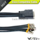 10ft CAB-OCTAL-ASYNC Cisco Compatible 8-Lead Octal Cable 68-Pin to 8-Male RJ45s 72-0845-01                                                                         Quality Choice