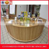 Round stype cash wrap counter display stand for retail