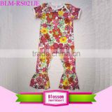 New Stylish Newborn Baby Clothes Baby Bodysuits Short Sleeve Long leg Baby Floral Romper