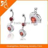 Vibrating belly ring free sample body piercing jewelry