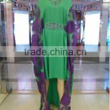 Embroidered Kaftan Islamic Clothing Muslim Party dress ladies maxi dress kaftan maxi dresses