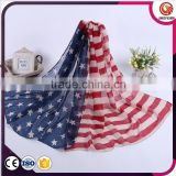 Customized high quality american flag infinity scarf